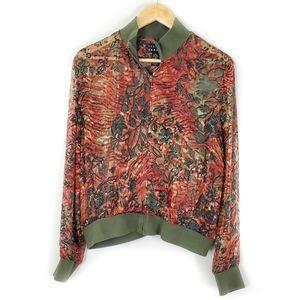 Vintage Spenser Jeremy Sheer Floral Jacket Size L